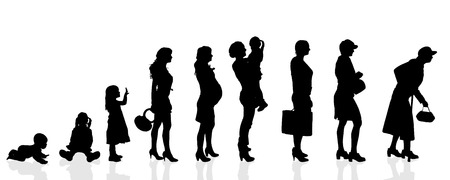 Ilustración de Vector silhouette generation women on a white background. - Imagen libre de derechos