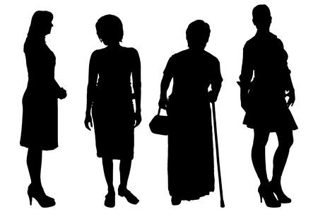 Foto de Vector women silhouette on a white background. - Imagen libre de derechos