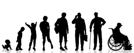 Illustration pour Vector silhouette generation on a white background. - image libre de droit