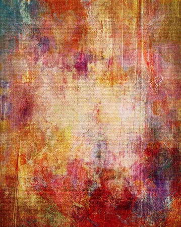 Photo pour paint textures on canvas structure - mixed media - image libre de droit