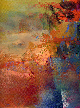 Photo for abstract multicolor layer artwork, opaque and transparent oil paint textures on canvas - Royalty Free Image