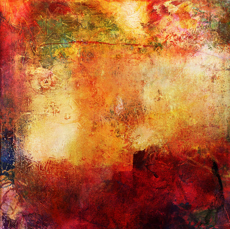 Foto de abstract multicolor layer artwork, opaque and transparent oil paint textures on canvas - Imagen libre de derechos
