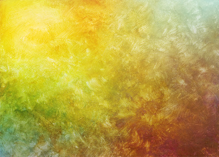 Photo for brush strokes on hand painted acrylic fall colors gradient background - Royalty Free Image