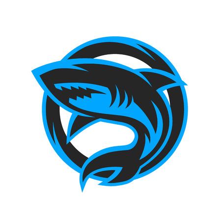 Ilustración de Shark sport logo symbol emblem. Vector illustration. - Imagen libre de derechos