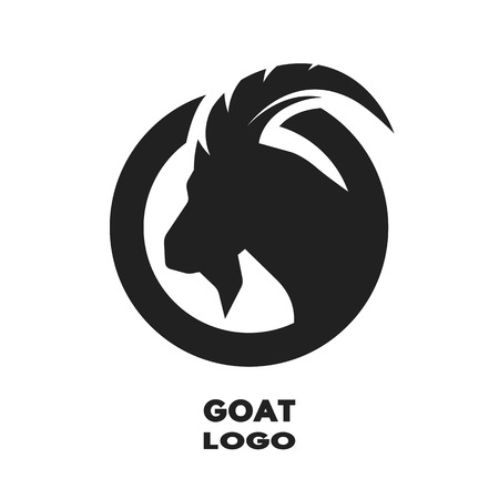 Illustration for Silhouette of the goat monochrome. Vector illustration. - Royalty Free Image