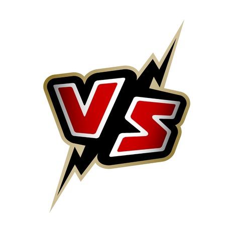 Illustration pour Versus letters. VS logo Vector illustration - image libre de droit