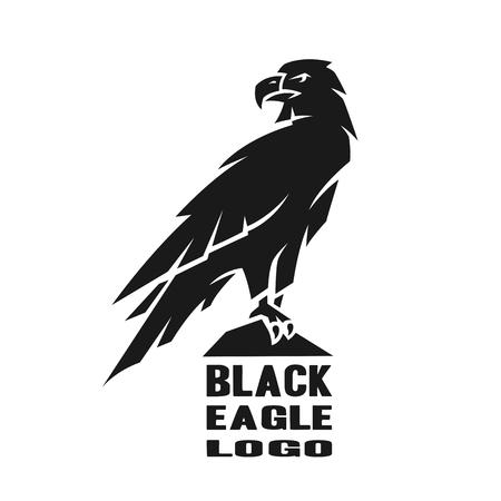 Photo for Monochrome eagle logo. - Royalty Free Image