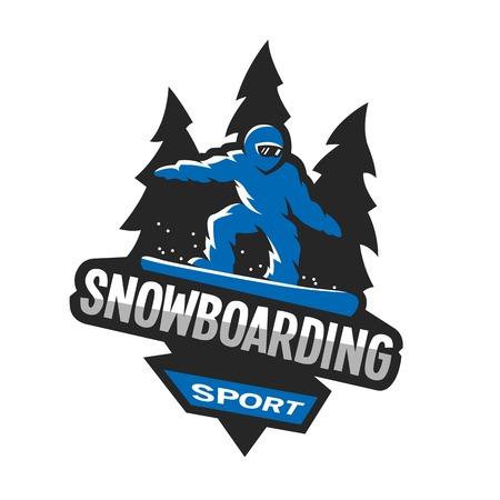 Ilustración de Snowboarding winter sports, logo, emblem. - Imagen libre de derechos