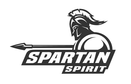 Ilustración de Spartan spirit. Symbol, logo. - Imagen libre de derechos