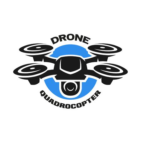 Ilustración de Video drone quadrocopter logo. - Imagen libre de derechos