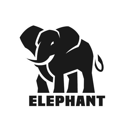 Illustration pour Elephant. Monochrome logo. - image libre de droit