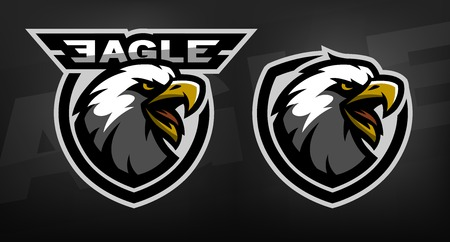 Illustration pour Head of the eagle, sport Two versions - image libre de droit