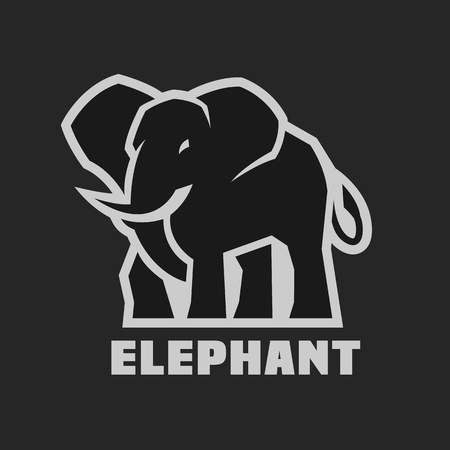 Illustration pour Elephant. Monochrome  icon - image libre de droit