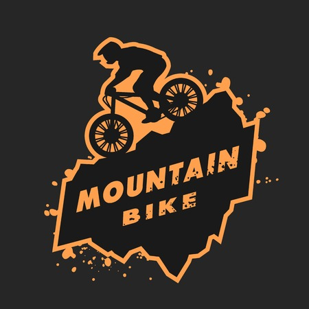 Illustration pour Mountain bike emblem. - image libre de droit