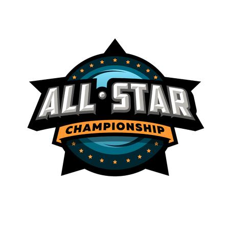Illustration pour All star sports, template logo design. - image libre de droit