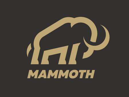 Illustration pour Mammoth logo template on a dark background. Vector illustration. - image libre de droit