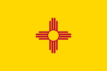 Illustration pour Vector flag illustration of New Mexico state, United States of America - image libre de droit