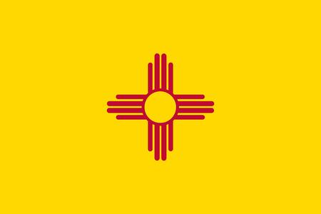 Illustrazione per Vector flag illustration of New Mexico state, United States of America - Immagini Royalty Free