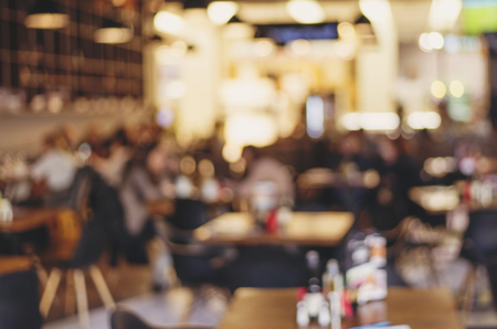 Photo pour Blur restaurant - vintage effect style picture - image libre de droit