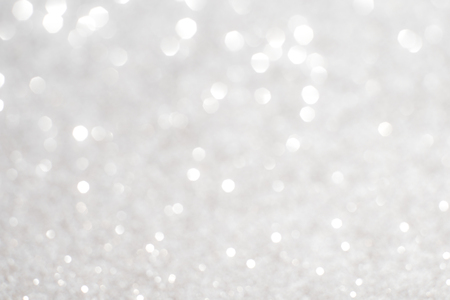 Photo for Silver white glittering Christmas lights. Blurred abstract background - Royalty Free Image