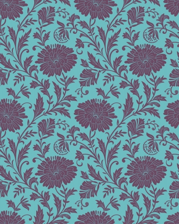 Seamless-Floral background for fabric mural