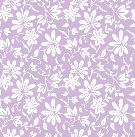 Illustration for Seamless purple floral background - Royalty Free Image