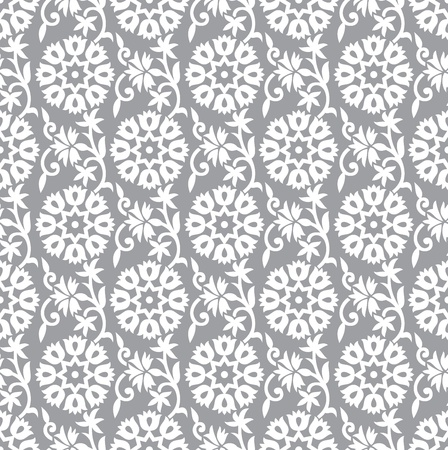 Illustration for Seamless silver floral background - Royalty Free Image