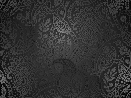 Ilustración de Seamless royal paisley wallpaper - Imagen libre de derechos