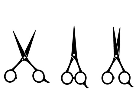 Illustration for isolated cutting scissors icon on white background - Royalty Free Image
