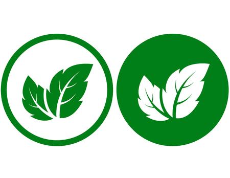 Ilustración de sign with leaves - Imagen libre de derechos