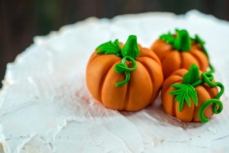 Photo pour Pumpkins made of mastic - image libre de droit