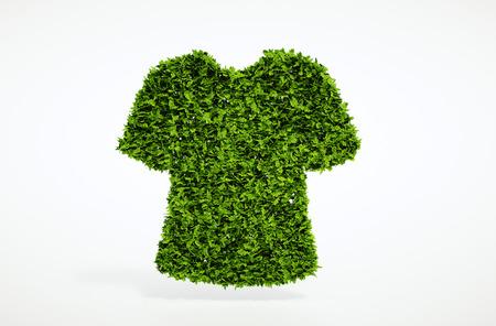 Photo pour Isolated 3d render ecology clothes concept with white background - image libre de droit
