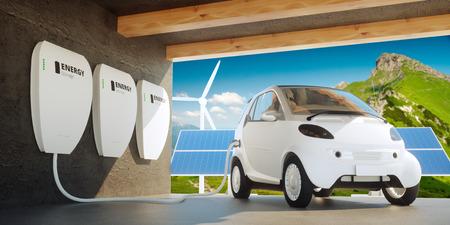 Photo pour Home wall battery concept - image libre de droit