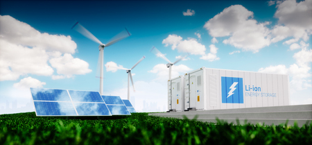 Photo for Concept of energy storage system. - Royalty Free Image