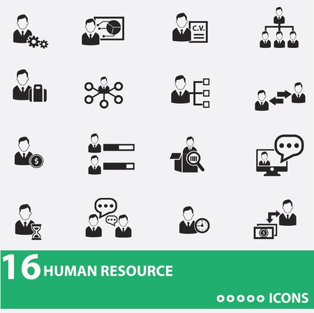 Illustration pour Business man,human resource icons - image libre de droit