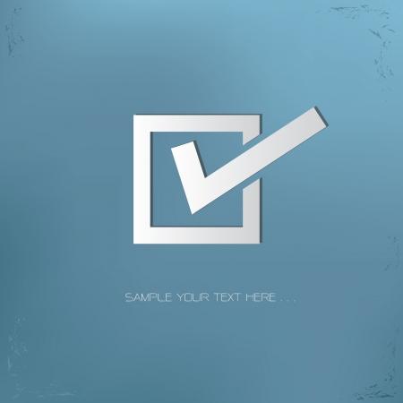 Illustration pour Check mark symbol,vector - image libre de droit