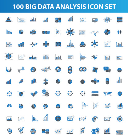 Illustration pour Big data,Data analysis icon set design icons for info graphic,clean vector - image libre de droit