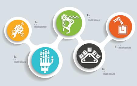 Foto für Industry info graphics icon design,clean vector - Lizenzfreies Bild