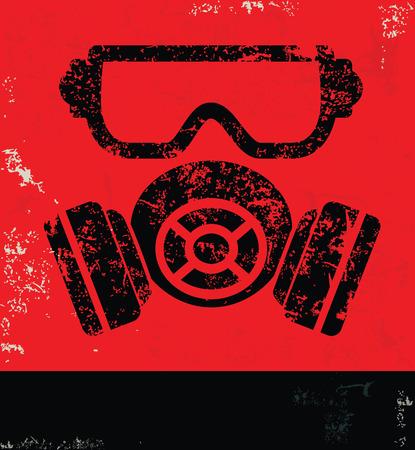 Illustration pour Maskindustry design on red backgroundgrunge vector - image libre de droit