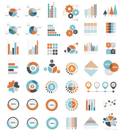 Illustration pour Data analysis icons on white background clean  - image libre de droit