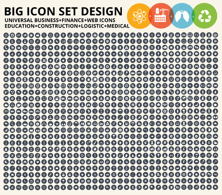 Illustration pour Big icon set,Business,financial,universal website,construction,heavy industry,medical,healthy care,education and ecology,nature icons,clean vector - image libre de droit