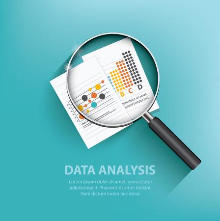 Illustration pour Business analysis design on blue background,clean vector - image libre de droit
