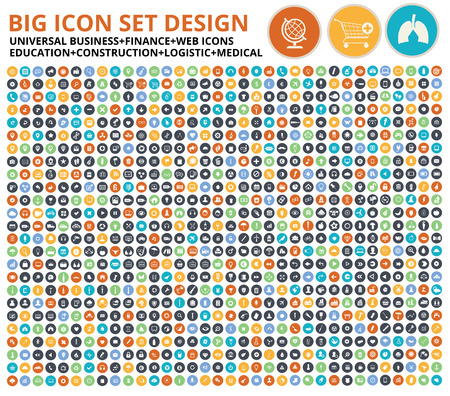 Illustration pour Big icon set,Website symbol,Construction,Industry,Ecology,Medical,healthy  Food icon set,clean vector - image libre de droit