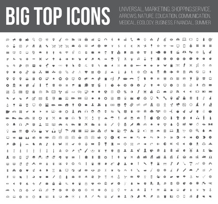 Illustration for Big top icons,Business,Finance,industry,Medical, and website icon set,clean vector - Royalty Free Image