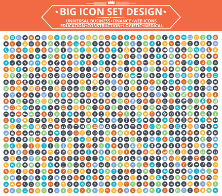 Ilustración de Big Icon set design,Universal,Website icon,Construction,Business,Finance,Medical icons,clean vector - Imagen libre de derechos