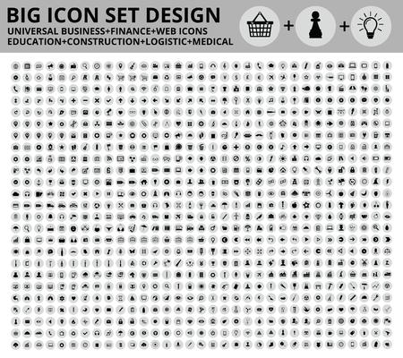 Illustration pour Big Icon set design,Universal,Website icon,Construction,Business,Finance,Medical icons,clean vector - image libre de droit