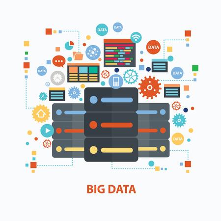 Illustration pour Big data concept design on white background,clean vector - image libre de droit