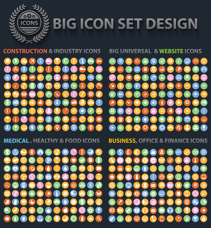 Illustration pour Big Icon set design,Universal,Website icon,Construction,Business,Finance,Medical icons,clean vector - image libre de droit