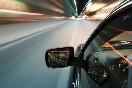 Foto per Car in night drive on the road in city - Immagine Royalty Free
