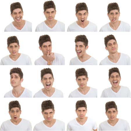 Photo for set of different male facial expressions - Royalty Free Image